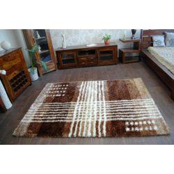 Килим SHAGGY SYMFONIA 108 коричневий