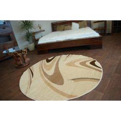 Teppich KARAMELL kreis COFFEE cremig