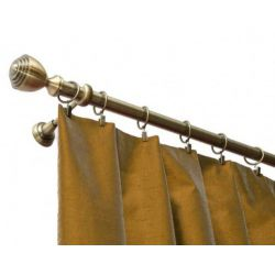 Curtain rod single SATRUN antique brass