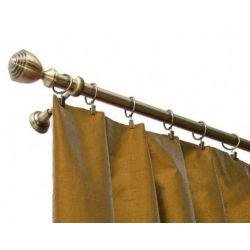 Függöny rúd egyetlen SATURN sárgaréz antik