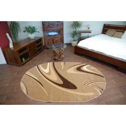 Teppich KARAMELL oval COFFEE Nuss