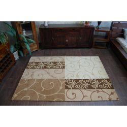 Teppich HAND TUFTED - SURAVI P06 goldenen