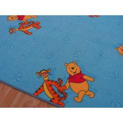 Moquette tappeto WINNIE THE POOH blu