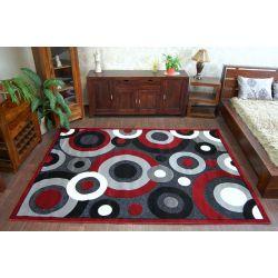 Teppich CHENILLE 9386 schwarz/rot
