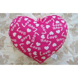 Plush pillow HEART LOVE pink