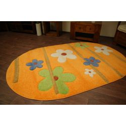 Carpet oval KASHMIR 044 orange
