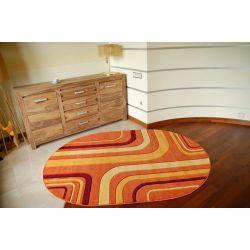 Tappeto ovale RUBIKON 8204 arancione