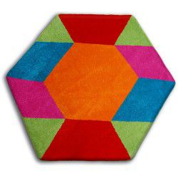 Килим PAINT шестикутник - 1550 синій