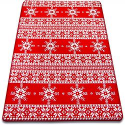 Carpet XMAS - F808 red/cream