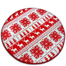 Carpet XMAS circle - F787 cream/red