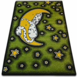 Carpet KIDS Cat green C414