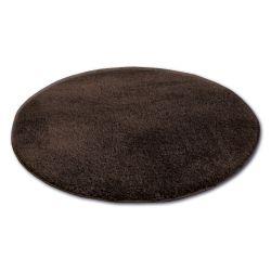Tappeto cerchio SHAGGY MICRO marrone