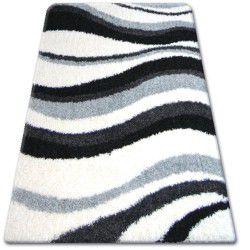 Teppich SHAGGY ZENA 2490 grau / weiß