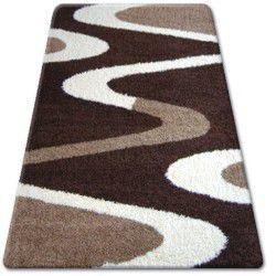 Carpet SHAGGY ZENA 3310 dark brown / ivory