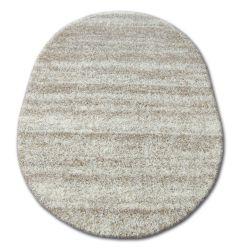 Teppich oval SHAGGY ZENA 3383 elfenbein / beige