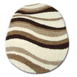 Carpet oval SHAGGY ZENA 2490 ivory / light beige