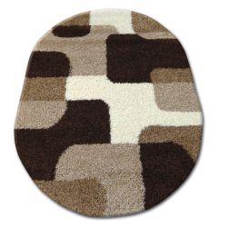 Teppich oval SHAGGY ZENA 2526 hellbeige / dunkel beige