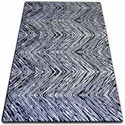 Tapis SKETCH - F754noir et blanc - Zigzag
