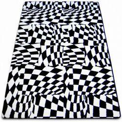 Килим SKETCH - F756 біло-чорний гриль