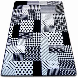 Tappeto SKETCH - F760 bianco/nero - Quadratini