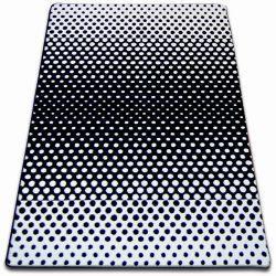 Килим SKETCH - F762 біло-чорний крапки