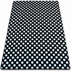 Килим SKETCH – F764 черно/бяло – точки