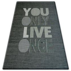 CARPET SIZAL FLOORLUX 20272 YOLO black / silver