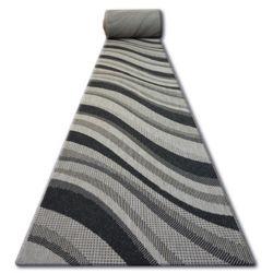 Sizal futó szőnyeg FLOORLUX minta 20353 ezüst / fekete