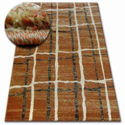 Kulatý koberec SHADOW 9359 rez / krém