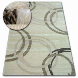 Kulatý koberec SHADOW 8645 krémová / světle béžová