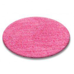 TAPPETO cerchio SHAGGY 5cm rosa