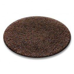 Shaggy szőnyeg kör 5cm barna