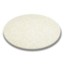 Koberec kruh SHAGGY 5cm smetanový