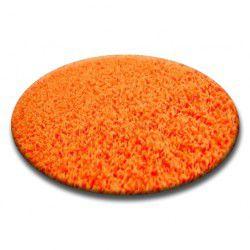 Teppich rund SHAGGY 5cm orange