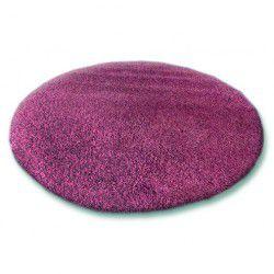 TAPIS cercle SHAGGY 5cm violet