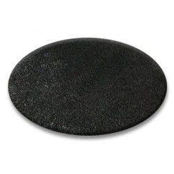 Teppich rund SHAGGY 5cm schwarz