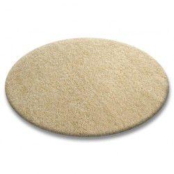 Koberec kruh SHAGGY 5cm česnek