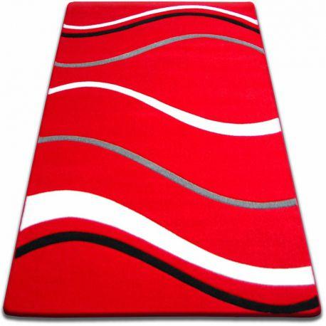 Koberec FOCUS - 8732 červený čáry LINKA VLNY