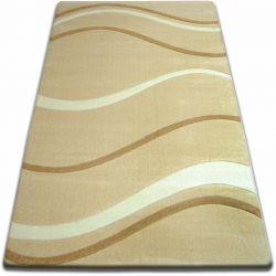 Килим FOCUS - 8732 часник хвилі лінії бежевий золотий