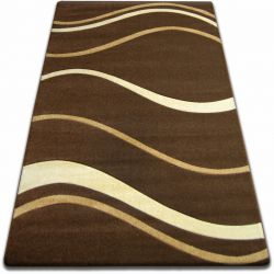 Carpet FOCUS - 8732 brown WAVES LINES cacao wenge