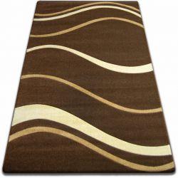 Teppich FOCUS - 8732 braun WELLEN LINIEN kakao wenge