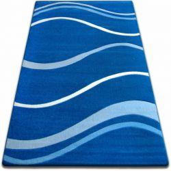 Килим FOCUS - 8732 синій хвилі лінії