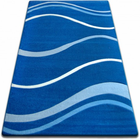 Koberec FOCUS - 8732 modrý VLNY LINKY