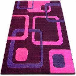 Килим FOCUS - F240 фіолетовий квадрати