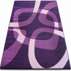 Alfombra FOCUS - F242 violeta oscuro Cuadrado
