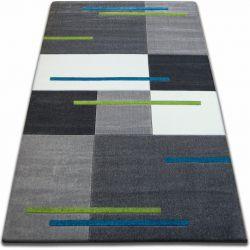 Carpet FOCUS - F439 SQUARES grey turquoise silver