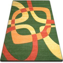 Koberec FOCUS - F242 zelený kvadrát čtverec