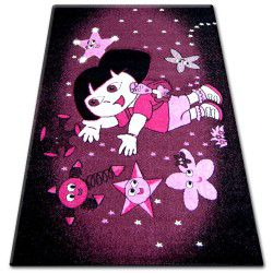Covor Pilly 7818 Dora - violet si negru