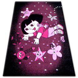 Teppich PILLY 7818 DORA - purpurrot/schwarz