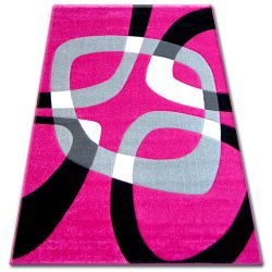 Carpet PILLY H203-8405 - fuchsia/black